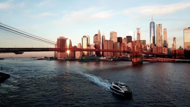 Sunset at Brooklyn Bridge