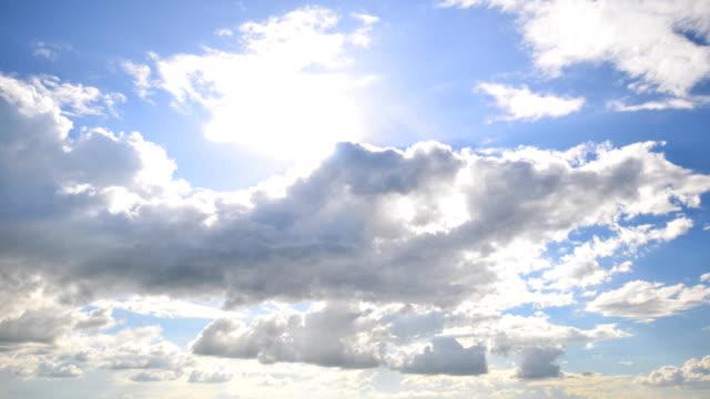 Solnedgång vid Cloud tidsfördröjning