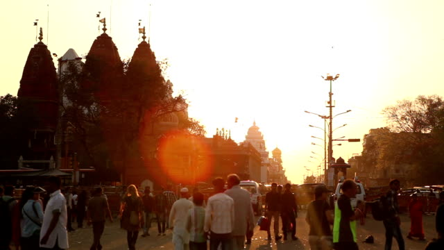 Sunset at Delhi streets