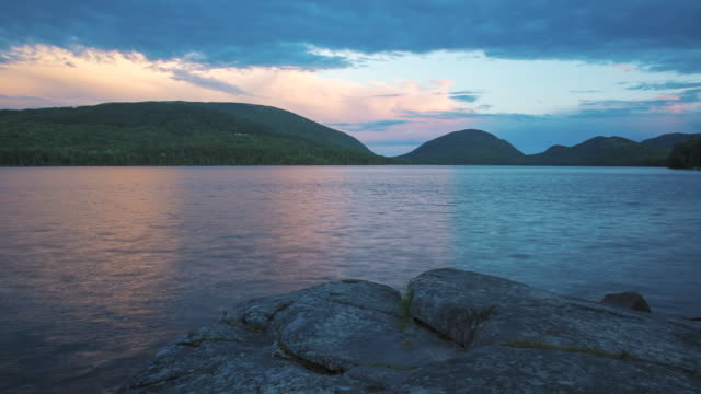 sunset at eagle lake - maine stock videos & royalty-free footage