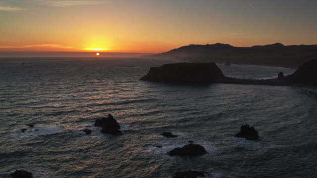 Sunset at Goat Rock, California - Drone Shot