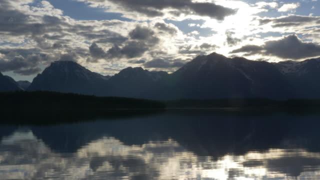 Sunset at Grand Teton and Jackson lake