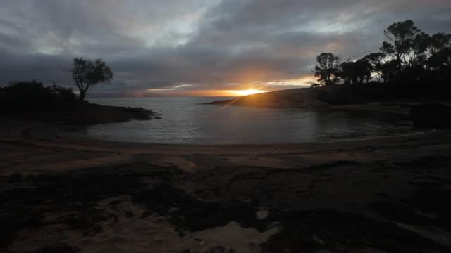 Sunset at Honeymoon Bay, Tasmania