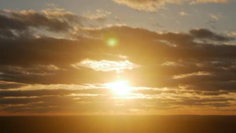 sunset at horizon - sunset stock videos & royalty-free footage