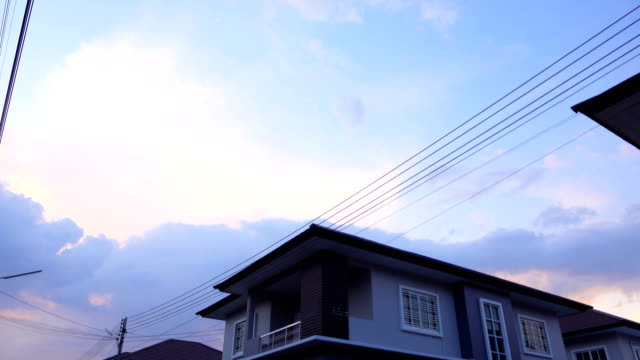 sunset at house time lapse - facade stock videos & royalty-free footage