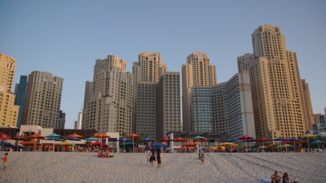 sunset at JBR Beach - Dubai