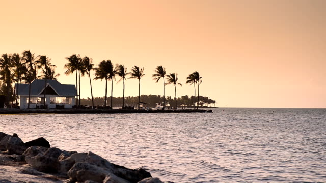 sunset at key west, florida, usa - beach house stock videos & royalty-free footage