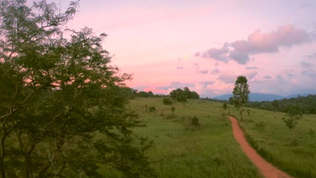 Sonnenuntergang im Koawyai Nationalpark Thailand.