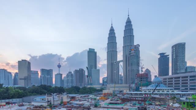 Sunset at Kuala Lumpur City Center