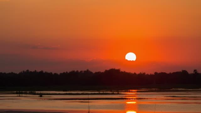 Sonnenuntergang am See, Zeitraffer
