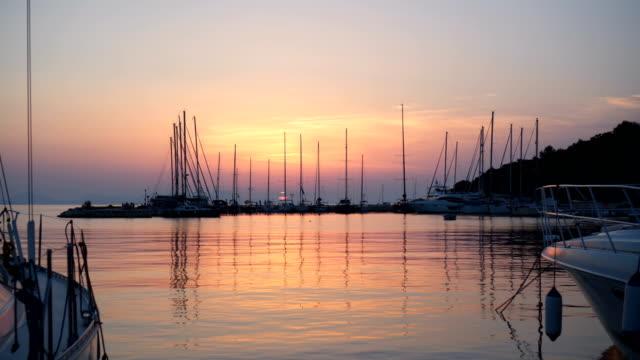 Sunset at marine