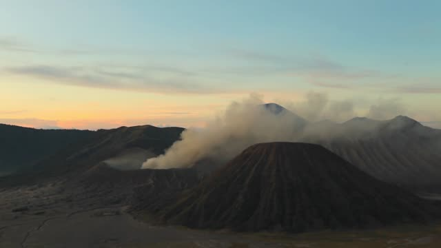 sunset at mount bromo volcano, east java, indonesia. - tengger stock videos & royalty-free footage