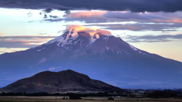Sunset at Mount Shasta, California
