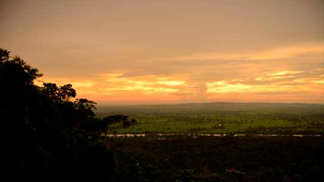 Sunset at Mountain at Rain Time Lapse