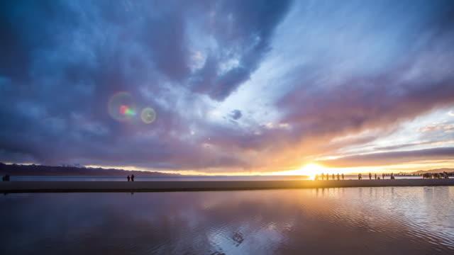 sunset at Namtso Lake