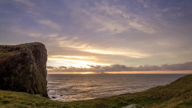 Sunset at Neist Point Lighthouse HD