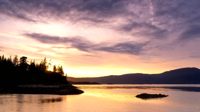sunset at plockton, scotland - scottish culture video stock e b–roll