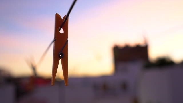 sunset at rabat - clothes peg stock videos & royalty-free footage