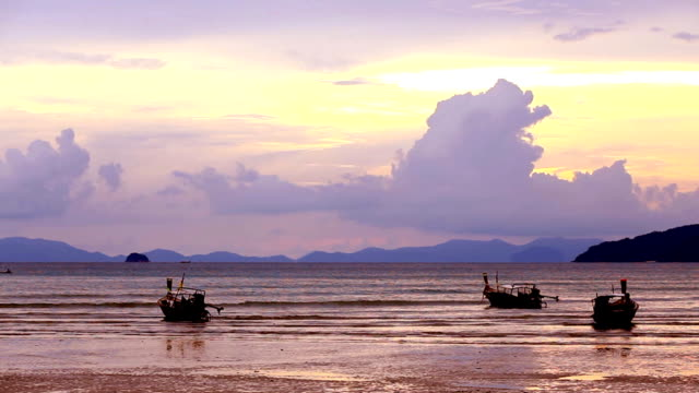 hd: sunset at railay beach (video) - railay beach stock videos and b-roll footage