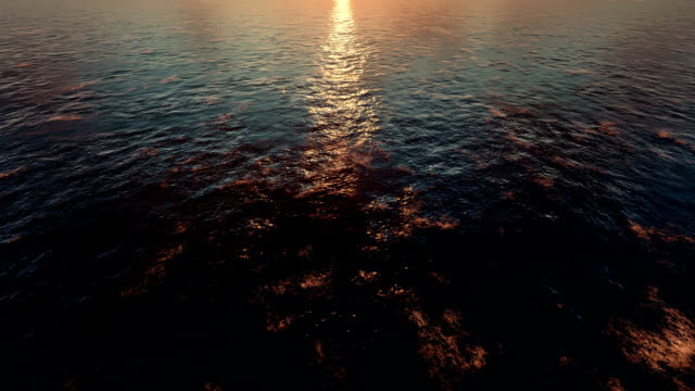 sunset at sea - light natural phenomenon stock videos & royalty-free footage
