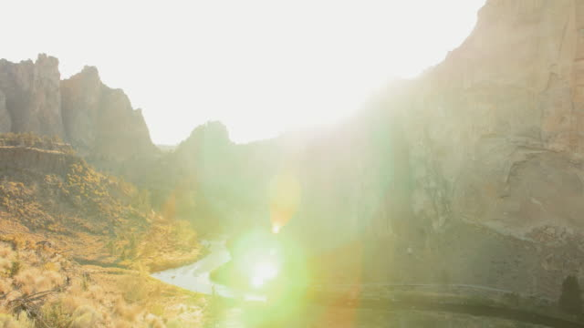 sunset at smith rock state park, time lapse - oregon us state stock videos & royalty-free footage