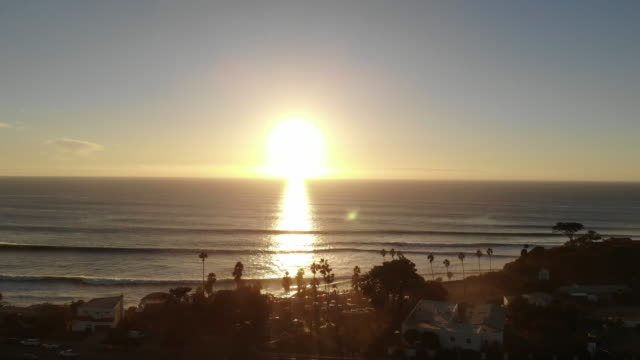 sunset at swami's - pacific coast stock videos & royalty-free footage