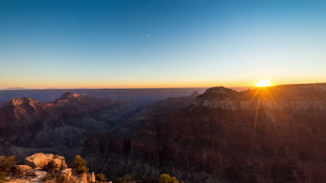 Zonsondergang bij de Grand Canyon