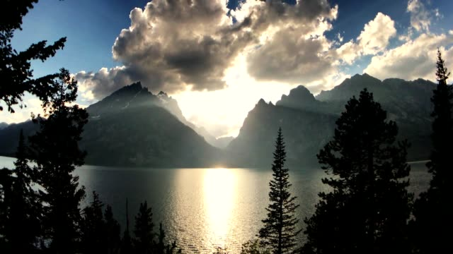 sunset at the grand teton national park