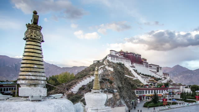 sunset at the Potala Palace