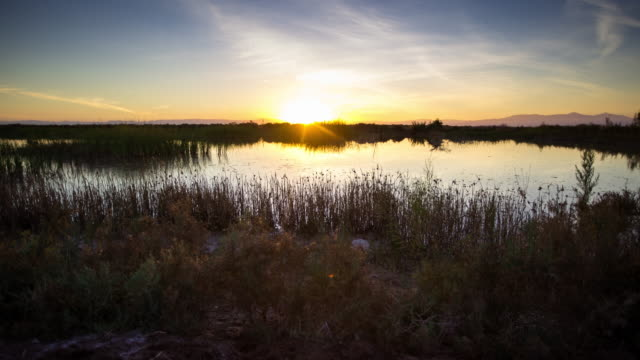 Sunset at the Salton Sea - Time Lapse
