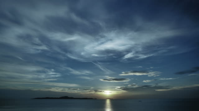 sunset at the sea - horizon over water stock videos & royalty-free footage