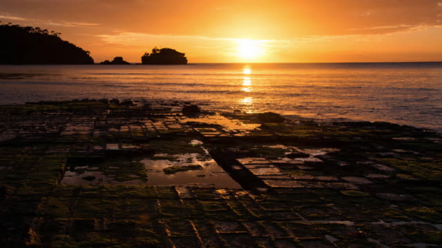 Sunset at the Tessellated Pavement, Tasmania