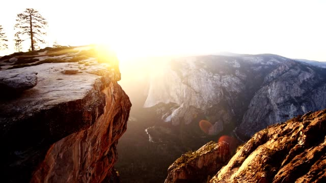 ヨセミテ国立公園の夕日 - タフトポイント - エルキャピタン点の映像素材/bロール