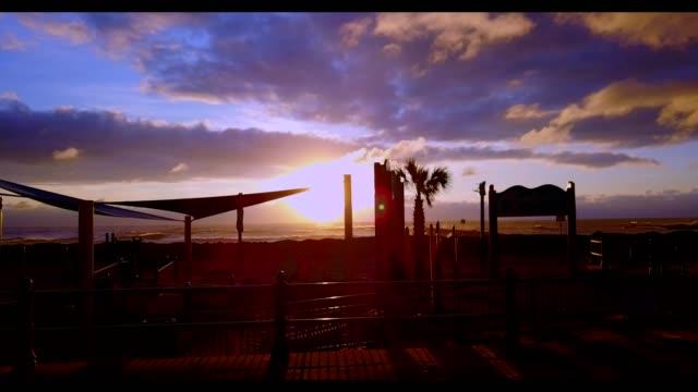 sunset at virginia beach - virginia beach stock videos & royalty-free footage