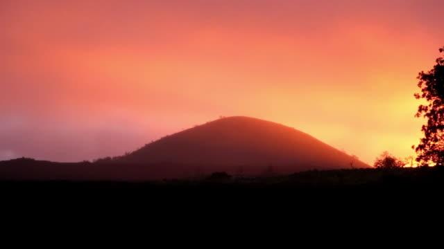 sunset big island mauna loa - hawaii islands stock videos & royalty-free footage