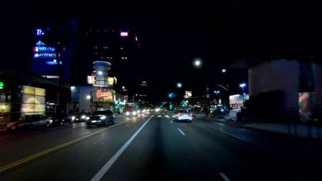 sunset blvd ii synchronisierte serie frontansicht fahrprozessplatte - sunset boulevard stock-videos und b-roll-filmmaterial