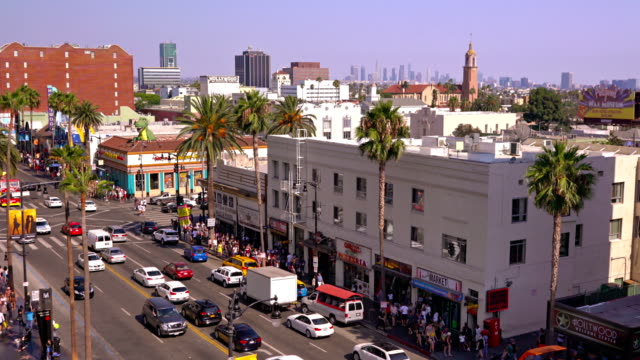 vidéos et rushes de sunset blvd. los angeles - hollywood boulevard