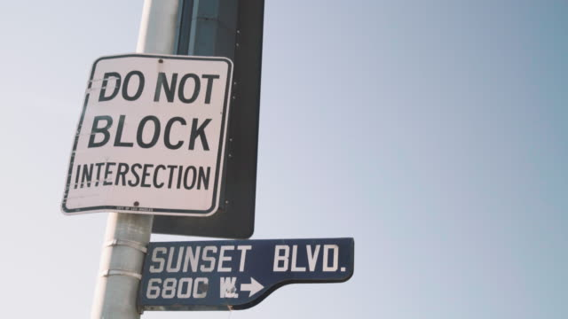 Sunset Blvd traffic sign