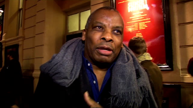 interviews EXT Don Warrington interview SOT looking forward to the evening excited about the Strictly final backing Lisa she's made such improvement...