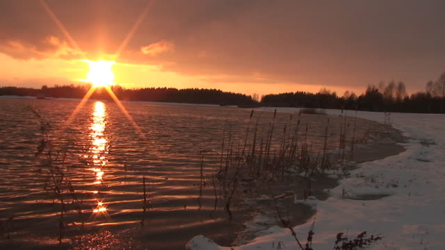 sunset by lake - 30 seconds or greater stock videos & royalty-free footage