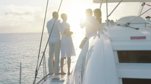 sunset champagne - yacht stock videos & royalty-free footage