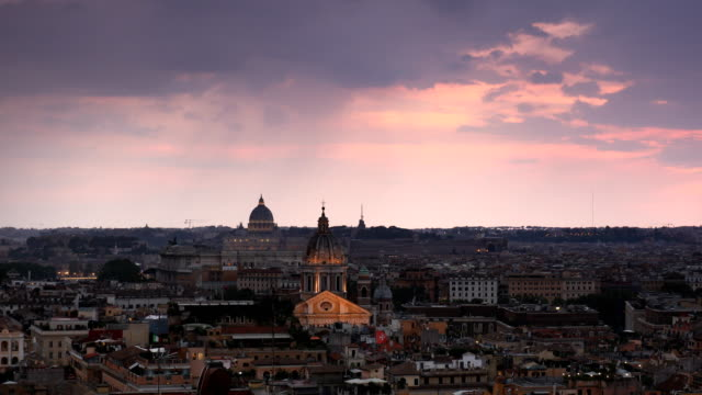 Sunset Clouds Over Rome
