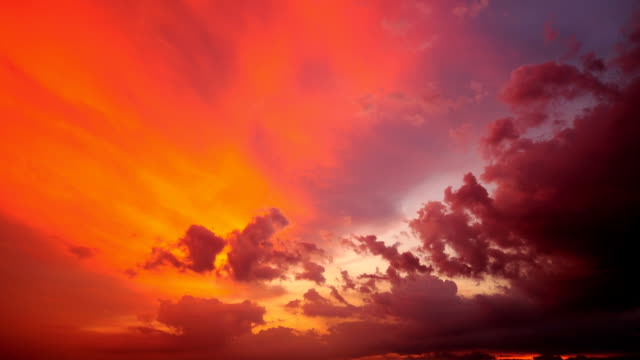 sunset clouds time lapse - red cloud sky stock videos & royalty-free footage