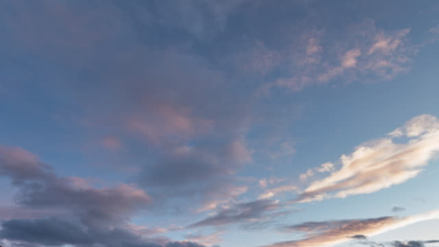 sunset cloudscape time lapse - pink colour stock videos & royalty-free footage