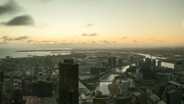 sunset day to night time lapse at melbourne - sunset to night time lapse stock videos & royalty-free footage