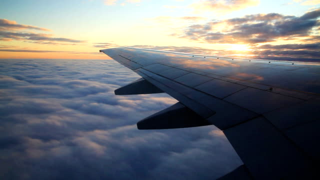 sunset flight - air vehicle stock videos & royalty-free footage