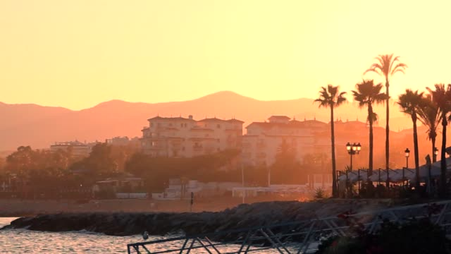 Sunset from Marbella's port - Puesta de Sol en Marbella