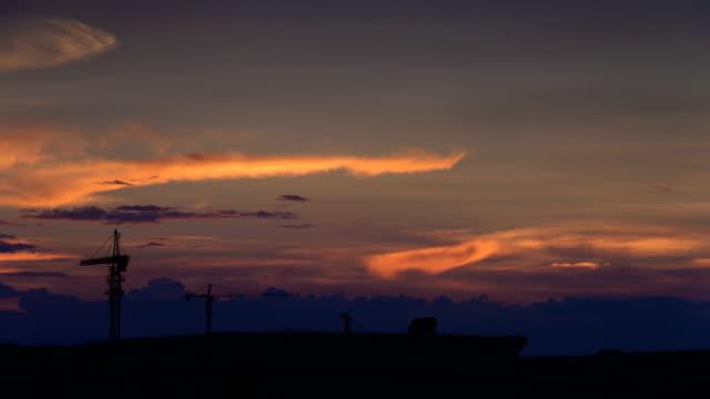 Sunset Glow beweglichen Dämmerung sky 4 K Zeitraffer-Video