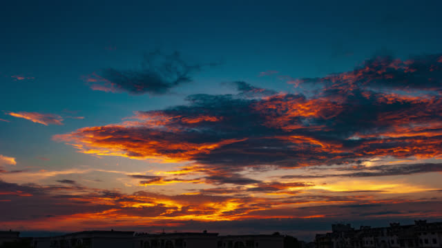 sunset glow translation dusk sky 4k dci - cirrocumulus stock videos & royalty-free footage