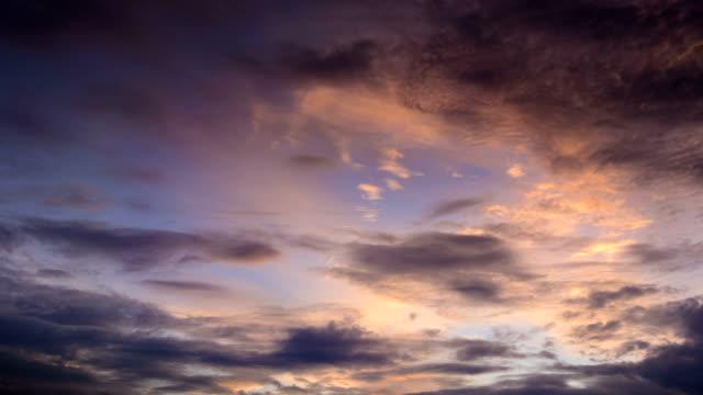 Sunset glow translation dusk sky 4K Time Lapse Video